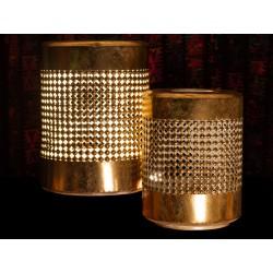 Lanterne en métal doré