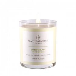Bougie Bambou blanc